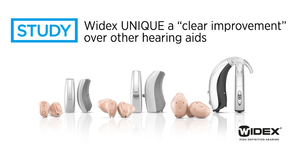 "Study: Widex UNIQUE a ""clear improvement"" over other hearing aids"